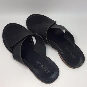 Madewell The Boardwalk Slide Leather Sandal